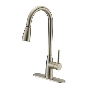 Designers Impressions 614722 Satin Nickel Kitchen Faucet w/ Pull Out Sprayer