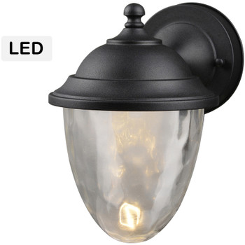 Black Outdoor Patio / Porch Exterior LED Light Fixture: 21-9464-Large