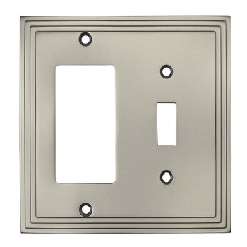 Cosmas 25077-SN Satin Nickel Single Toggle / GFCI Decora Combo