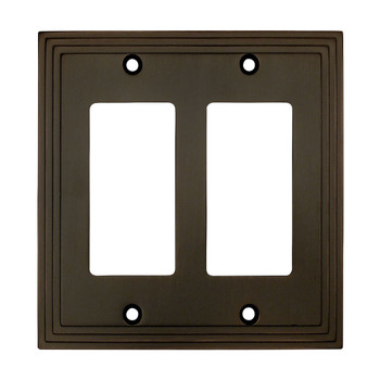 Cosmas 25090-ORB Oil Rubbed Bronze Double GFCI / Decora Wall Plate