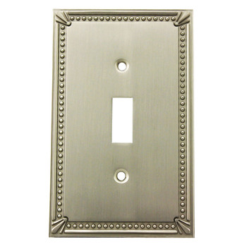 Cosmas 44055-SN Satin Nickel Single Toggle Switchplate Cover