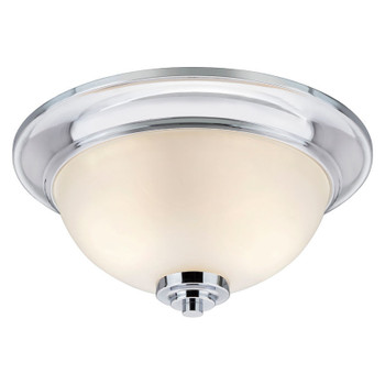 Avalon Chrome 2 Light Flush Mount Ceiling Fixture: 21-9204