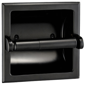 Designers Impressions Matte Black Recessed Toilet / Tissue Paper Holder Mounting Bracket Included: 48635