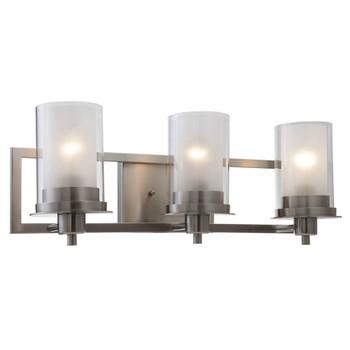 Juno Satin Nickel 3 Light Wall Sconce / Bathroom Fixture: 73472