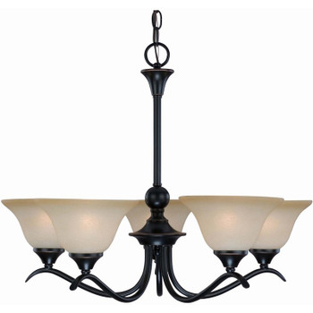 Oil Rubbed Bronze 5 Light Chandelier : 12-7547