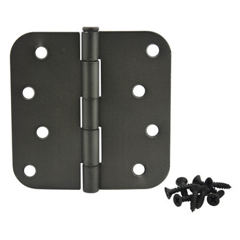 "Cosmas Oil Rubbed Bronze Door Hinge 4"" with 5/8"" Radius Corners: 37632"