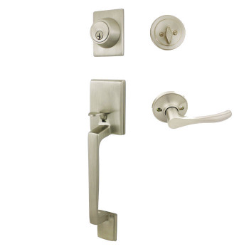 Cosmas 600 Series Satin Nickel Handleset with 30 Series Interior: HS600/39-SN
