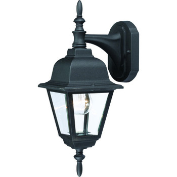 Black Outdoor Patio / Porch Exterior Light Fixture : 55-2364