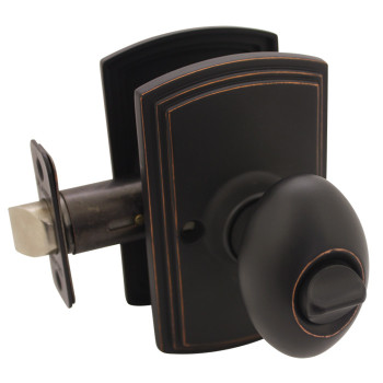 Delaney Canova Design Oil Rubbed Bronze Privacy Door Knob (Bed & Bath): 102T-CN-US10