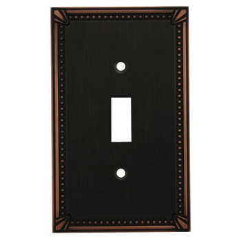Cosmas 44055-ORB Oil Rubbed Bronze Single Toggle Switchplate Cover