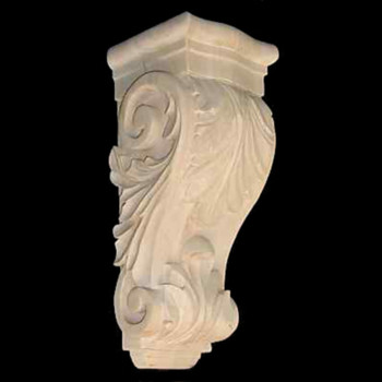 Wood Corbel Bar Bracket Support Rubberwood CVCBLA-12-RW