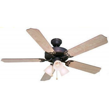 "Oil Rubbed Bronze 52"" Ceiling Fan w/ Light Kit : 5943"