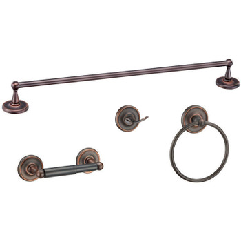 Designers Impressions Maxim Series 4 Piece Oil Rubbed Bronze Bathroom Hardware Set: 19748/19113