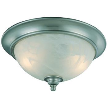Satin Nickel Flush Mount Ceiling Light Fixture : 10-4449