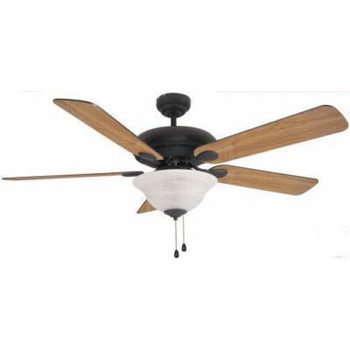 "Matte Black 52"" Ceiling Fan w/ Light Kit : 3561"