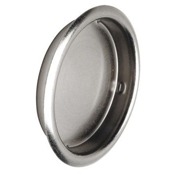 "Designers Impressions Satin Nickel 2-1/8"" Pocket Door Cup Pull: 47644"