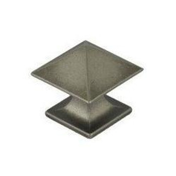 Pro Value Series SZEL1-3-WN Weathered Nickel Square Zinc Cabinet Knob