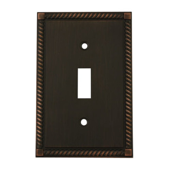 Cosmas 88544-ORB Oil Rubbed Bronze Single Toggle Switch Cover