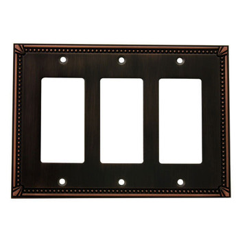 Cosmas 44095-ORB Oil Rubbed Bronze Triple GFCI / Decora Wall Plate