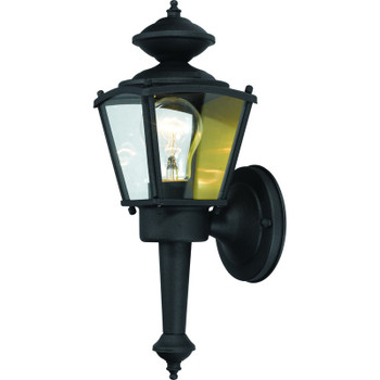 Black Outdoor Patio / Porch Exterior Light Fixture : 54-4247
