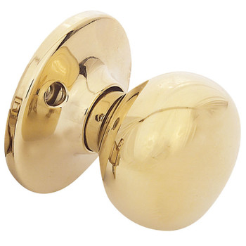 Designers Impressions Bedford Design Polished Brass Dummy Door Knob