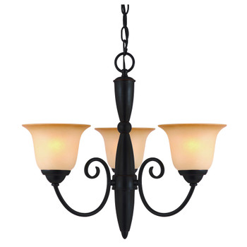 Oil Rubbed Bronze 3 Light Chandelier : 16-6072