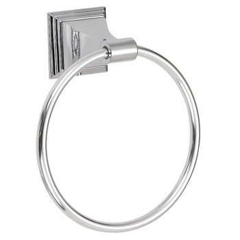 Designers Impressions 600 Series Polished Chrome Towel Ring: BA604