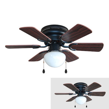 "Oil Rubbed Bronze 30"" Hugger Ceiling Fan w/ Light Kit : 4640"