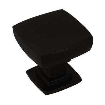 Cosmas 5232FB Flat Black Square Contemporary Cabinet Knob