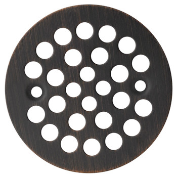 "Designers Impressions 651731 Oil Rubbed Bronze 4-1/4"" Diameter Drain Cover Strainer"