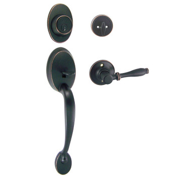 Designers Impressions Frankfort Oil Rubbed Bronze Handleset with Villa Interior: 33-8000/5944