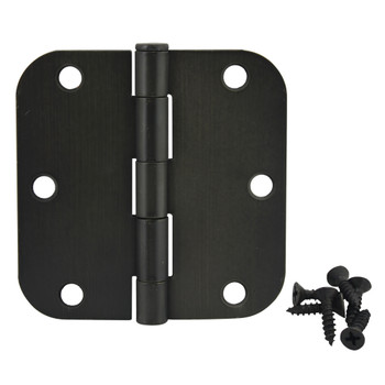 "Cosmas Oil Rubbed Bronze Door Hinge 3 1/2"" with 5/8"" Radius Corners: 37540"