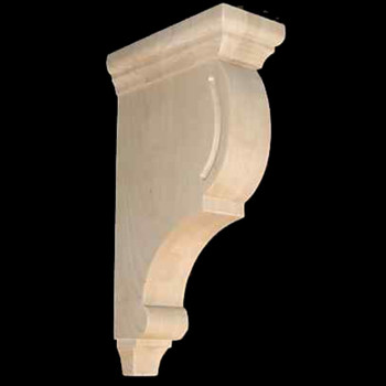 Wood Corbel Bar Bracket Support Rubberwood CVC-12-RW