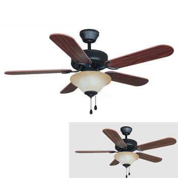 "Oil Rubbed Bronze 42"" Ceiling Fan w/ Light Kit : 7555"