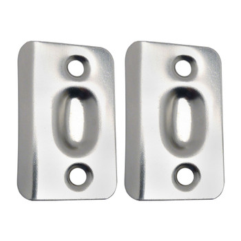 Designers Impressions Satin Nickel Replacement Ball Catch Strike Plates  (Pair): PL 003