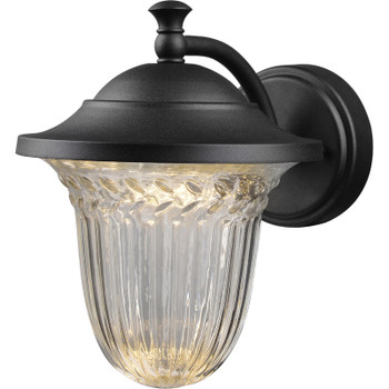 Black Outdoor Patio / Porch Exterior LED Light Fixture: 21-9532-Large