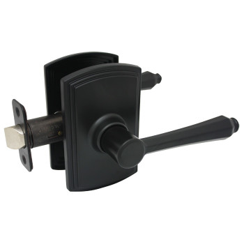 Delaney Florini Design Black Passage Door Lever (Hall & Closet): 501T-FL-BLACK
