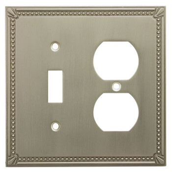 Cosmas 44059-SN Satin Nickel Single Toggle / Duplex Combo