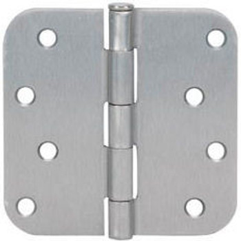 "Cosmas Satin Nickel Door Hinge 4"" with 5/8"" Radius Corners: 37649"