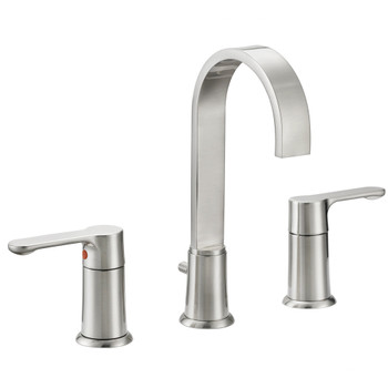 Designers Impressions 615664 Satin Nickel Lavatory Widespread Vanity Faucet