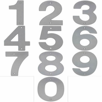 "Satin Nickel 5"" House Number"