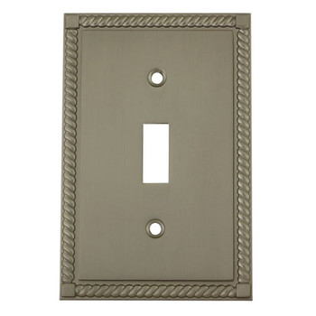 Cosmas 88544-SN Satin Nickel Single Toggle Switch Cover