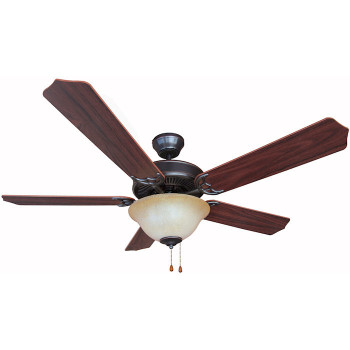 "Oil Rubbed Bronze 52"" Ceiling Fan w/ Light Kit : 7394"