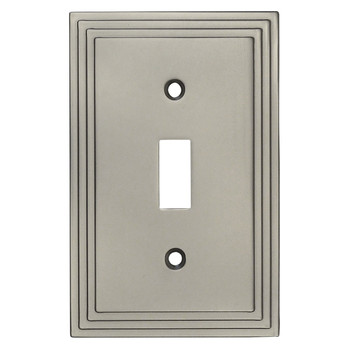 Cosmas 25053-SN Satin Nickel Single Toggle Switchplate Cover