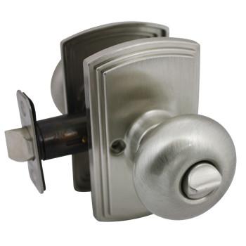 Delaney Santo Design Satin Nickel Privacy Door Knob (Bed & Bath): 102T-SN-US15
