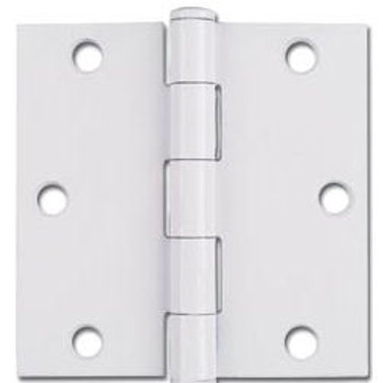 "White Door Hinge 3.5"" with Square Corners: 52-0429"
