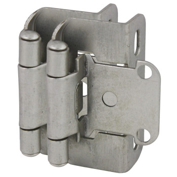 "Cosmas 27550-SN Satin Nickel Partial Wrap Hinge 1/2"" Overlay (Pair)"
