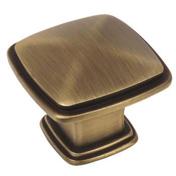 Cosmas 4391BAB Brushed Antique Brass Cabinet Knob