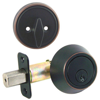 Designers Impressions Oil Rubbed Bronze Single Cylinder Deadbolt: 33-1111