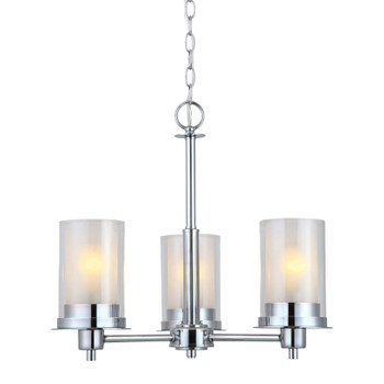 Avalon Chrome 3 Light Chandelier: 21-8962